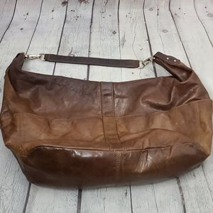 iLi New York Brown Leather Hobo Shoulder Purse